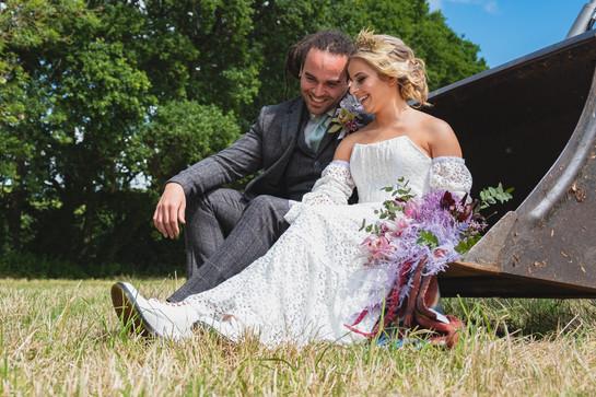 Ivory bespoke wedding dress