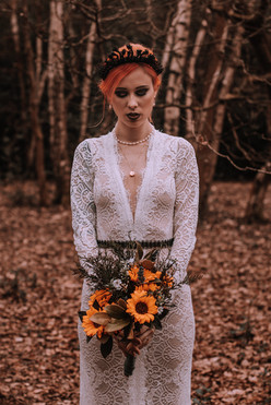 dark woodland fairy style wedding dress