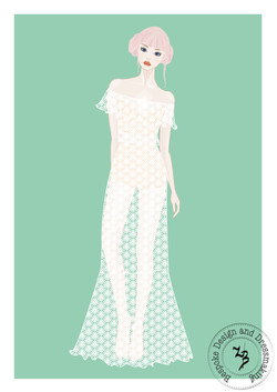 Festival style wedding dress design