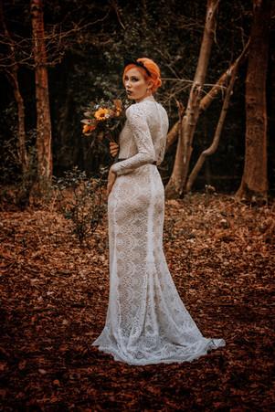 Beuriful bride, bespoke wedding dress