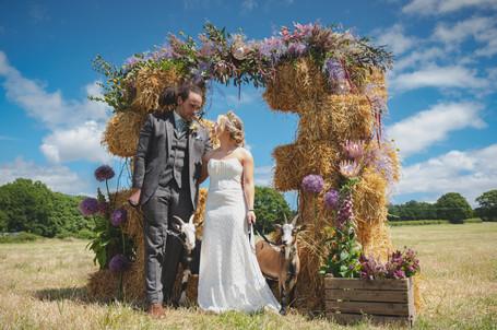 Boho bride bespoke wedding dress