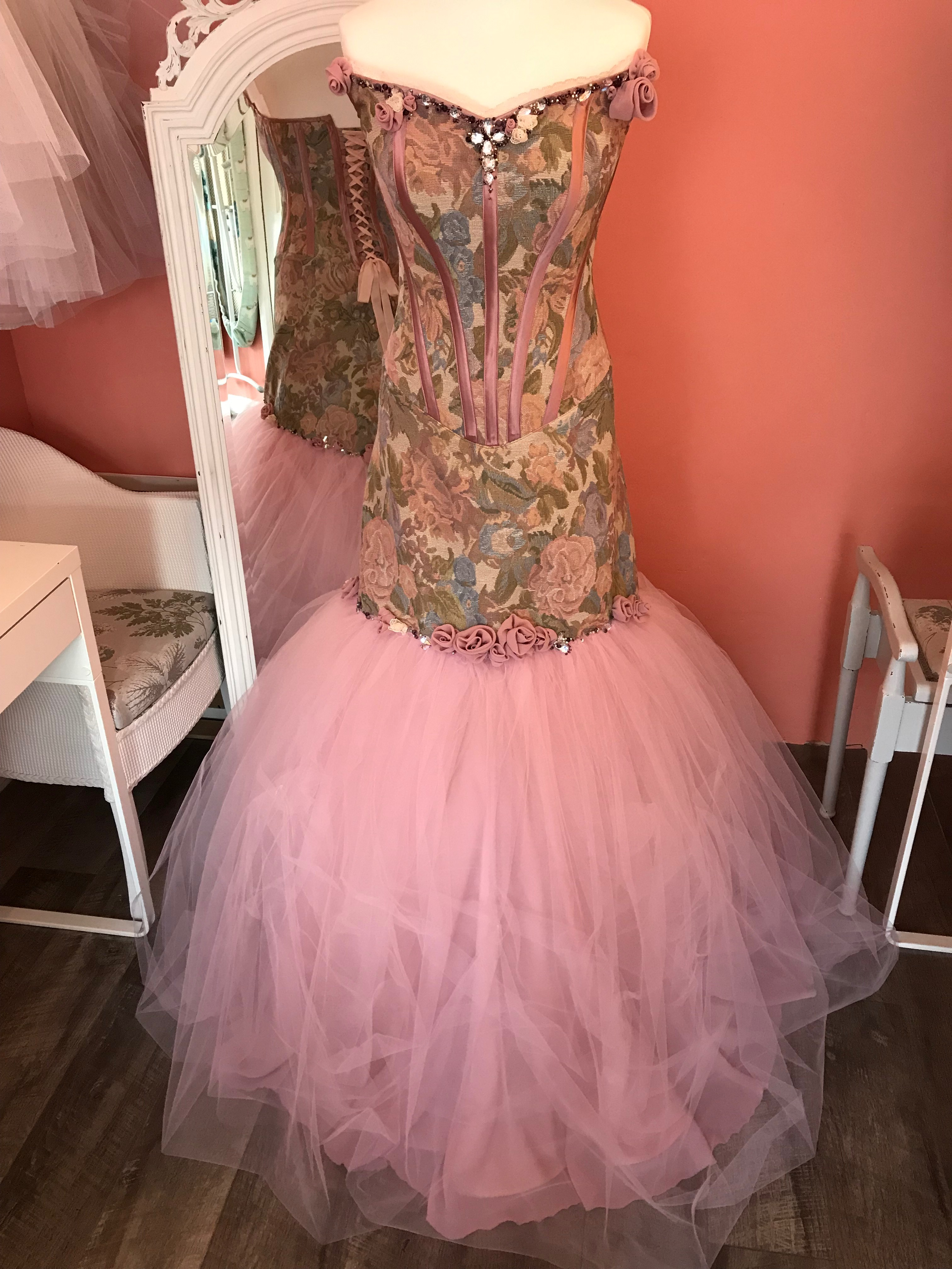 Rose wedding gown front