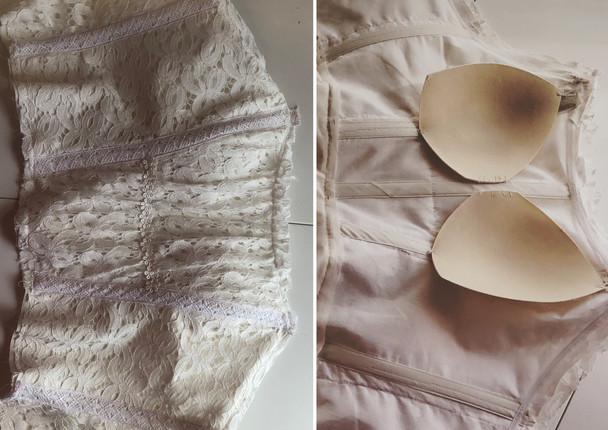 Farm-fest bespoke wedding gown