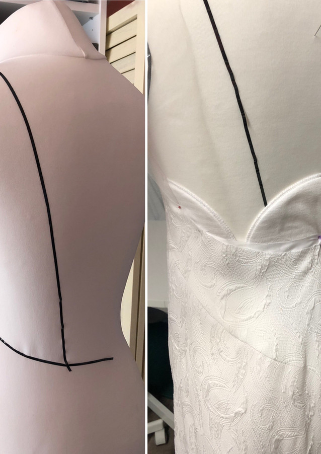 Bespoke Festival wedding gown