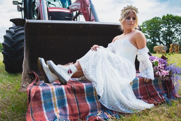 Lace bespoke wedding dress