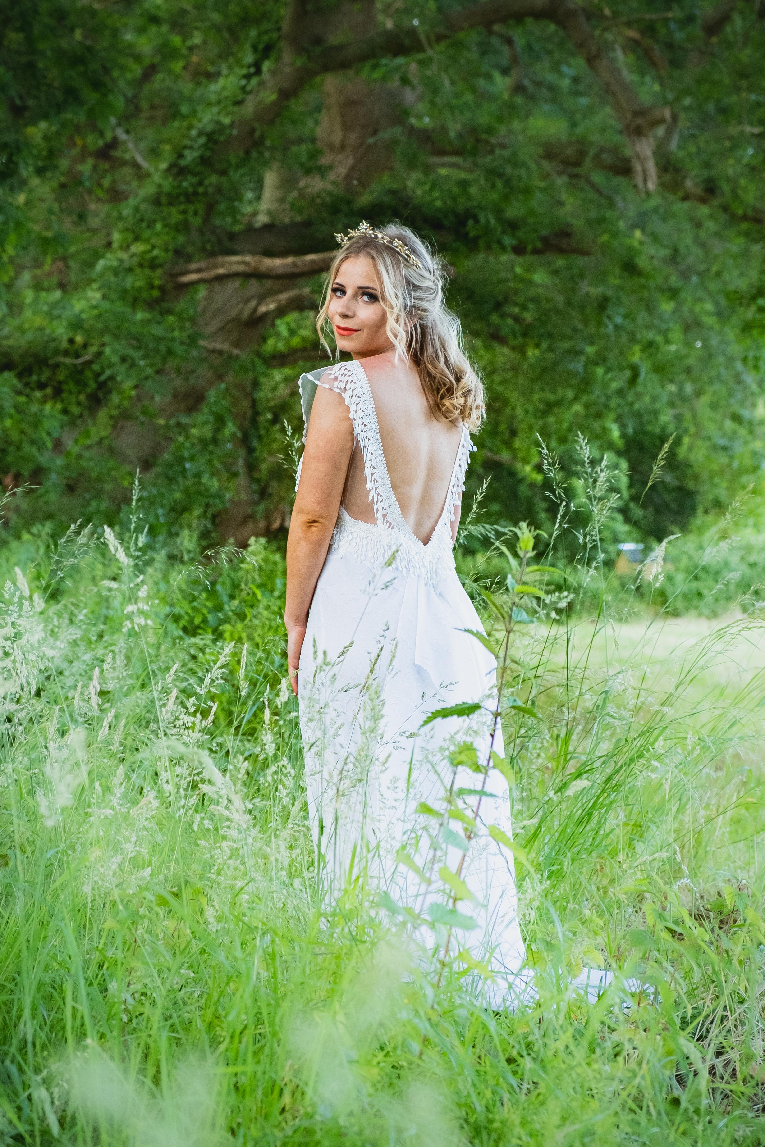 Farm-fest wedding dress