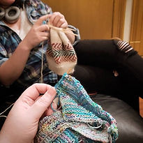 Any day of the week_ knitting on the sof
