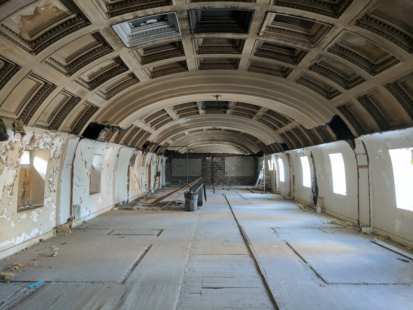 Railway waiting station prior to restoration