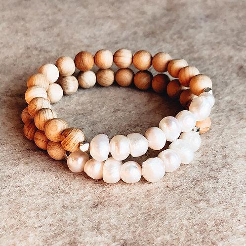 Freshwater Pearl + Wood