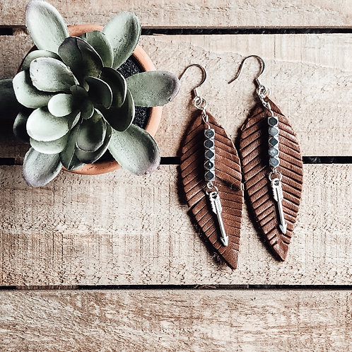 Leather, Hematite + Arrows