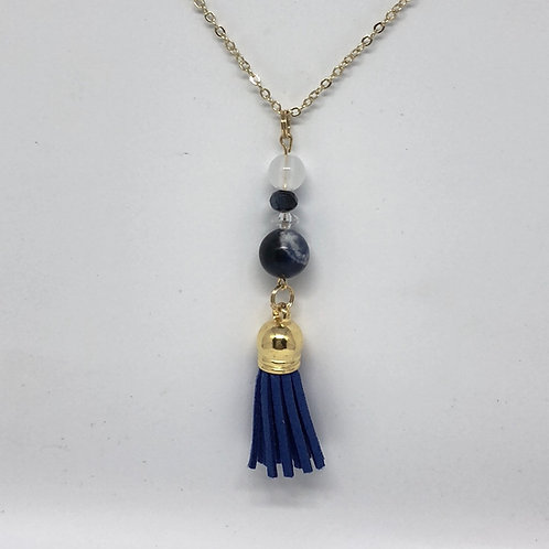 Sodalite Gold Necklace