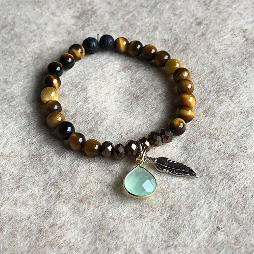 Tiger Eye + Tourmaline