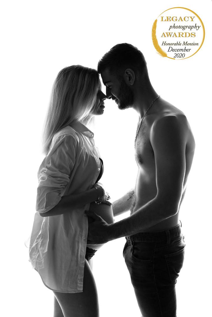 Photographie de grossesse en couple