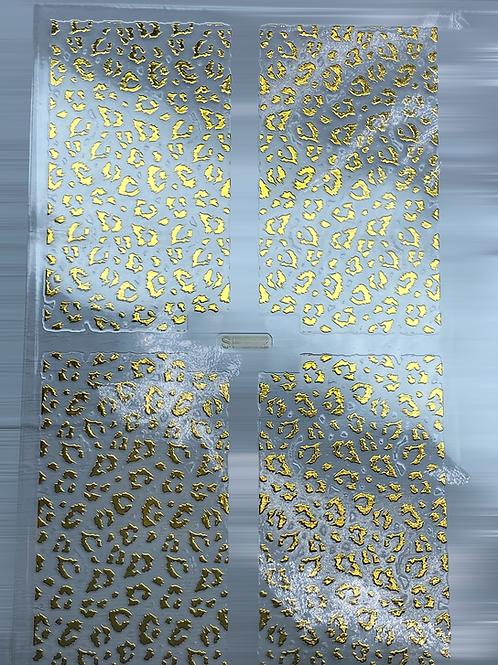 Gold Nail Pattern Sticker 6