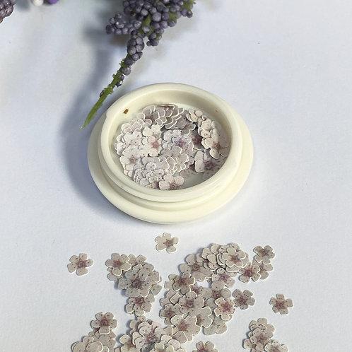 White Flower Nail Art (100 pcs)