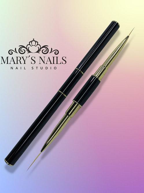 Black Liner Brush Dual Tip