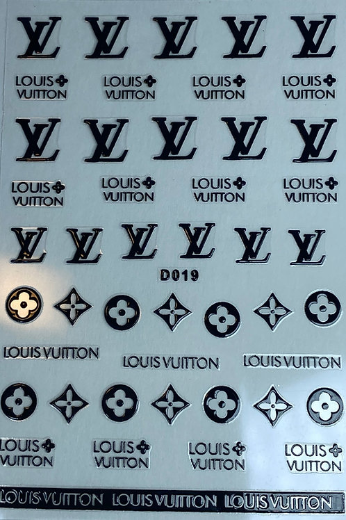 Louis Vuitton Nail Sticker