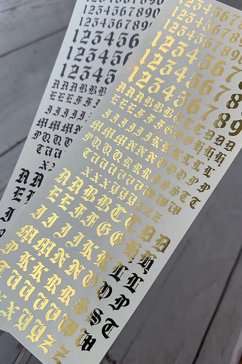 Letter and Number Decals