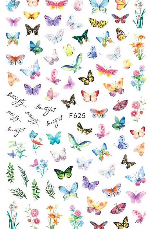 Butterfly Nail Sticker 3