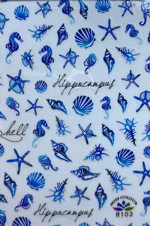 Blue Sea Life Stickers