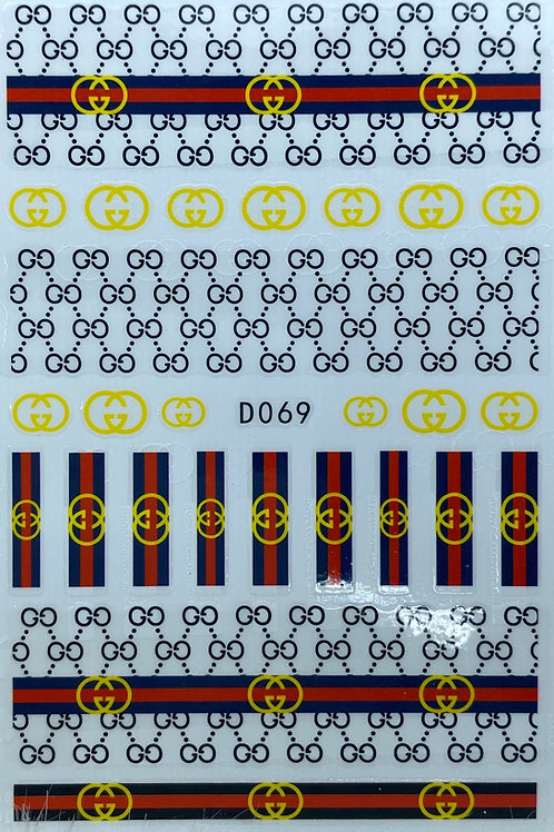 Gucci Nail Sticker 2