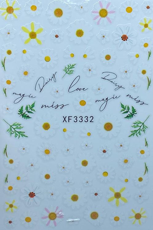 Daisy Flower Nail Sticker