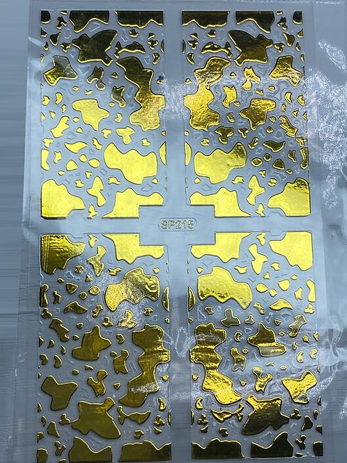 Gold Nail Pattern Sticker 5