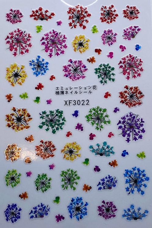 Festive Flower Stickers