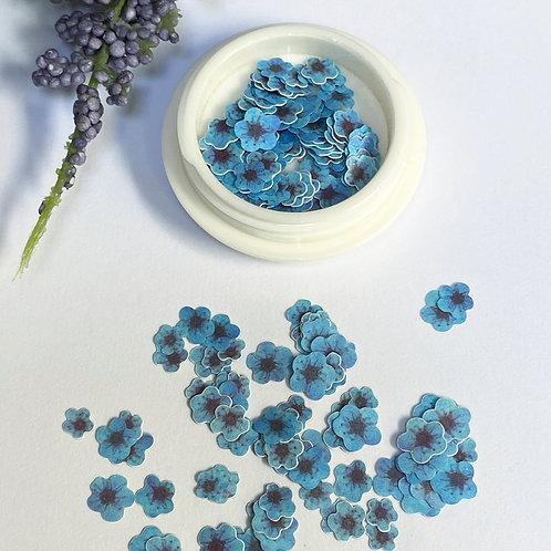 Blue Flowers Nail Art (100 pcs)
