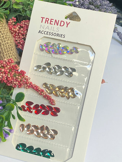 Trendy Crystal Nail Accessories