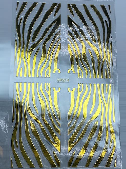 Gold Nail Pattern Sticker 8