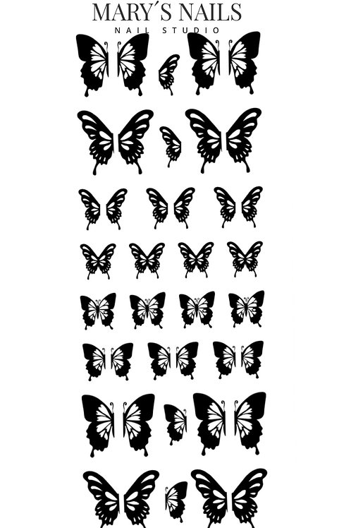 Black Butterfly Decals