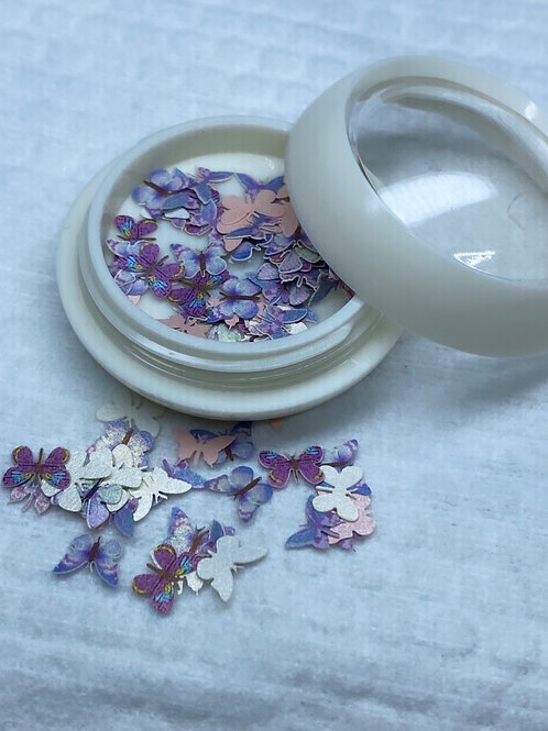 Encapsulated Butterfly Nail Art 5 (100 pcs)