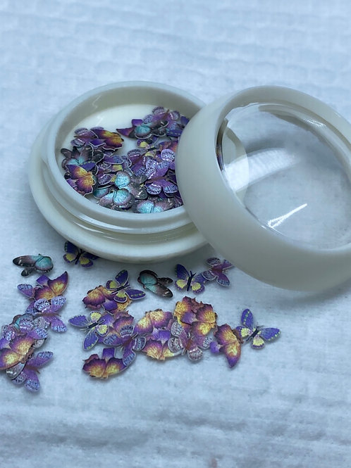 Encapsulated Butterfly Nail Art 6 (100 pcs)