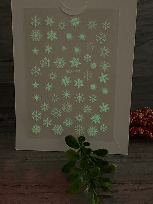 Glow in the Dark Snow Flakes