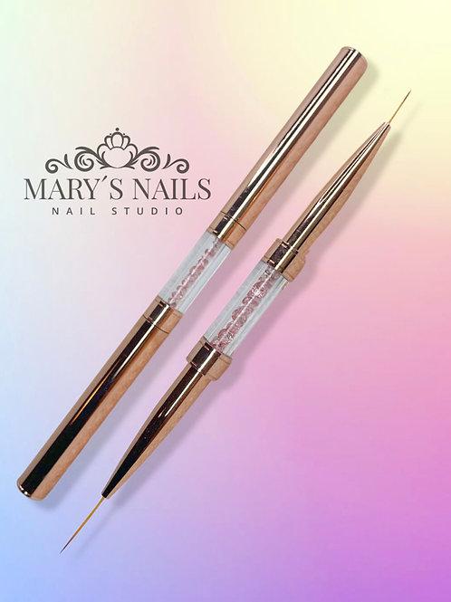 Rose Gold Liner Brush Dual Tip
