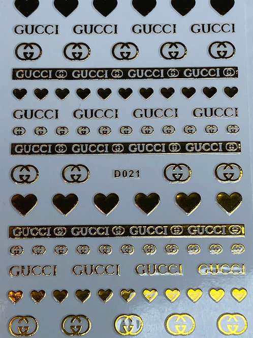 Gold Gucci Nail Stickers