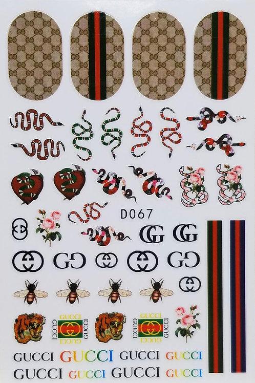 Gucci Nail Sticker