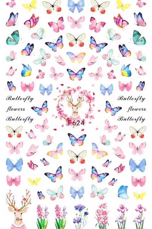 Butterfly Nail Sticker 4
