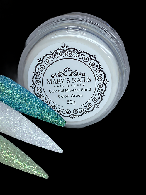 Colorful Mineral Sand: Green