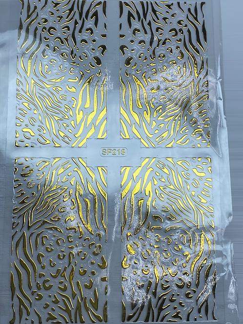 Gold Nail Pattern Sticker 4