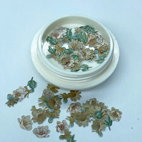 Flower and Leaves Nail Art (50 pcs)
