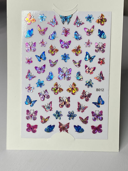 Colorful Butterfly Nail Stickers