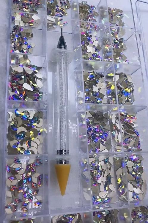 3D Nail Art: Bulk Diamond Rhinestones (1000 pcs)