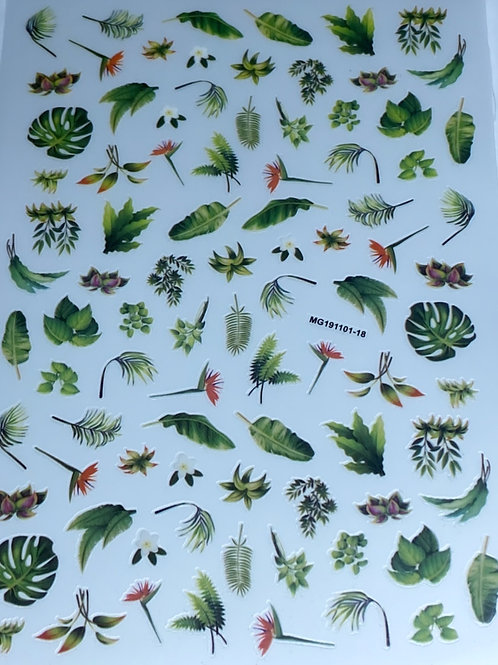 Leaves Nail Sticker