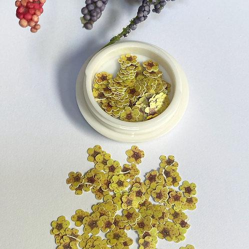 Yellow Flowers Nail Art (100 pcs)