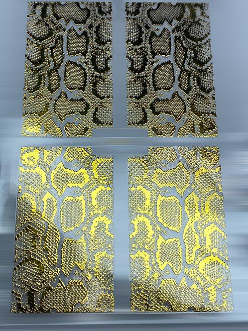 Gold Nail Pattern Sticker 7
