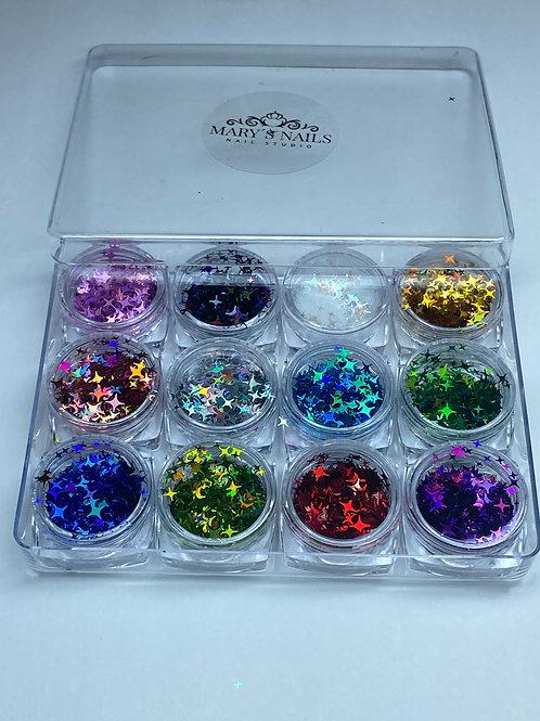 Star Nail Glitter Sequin Tips