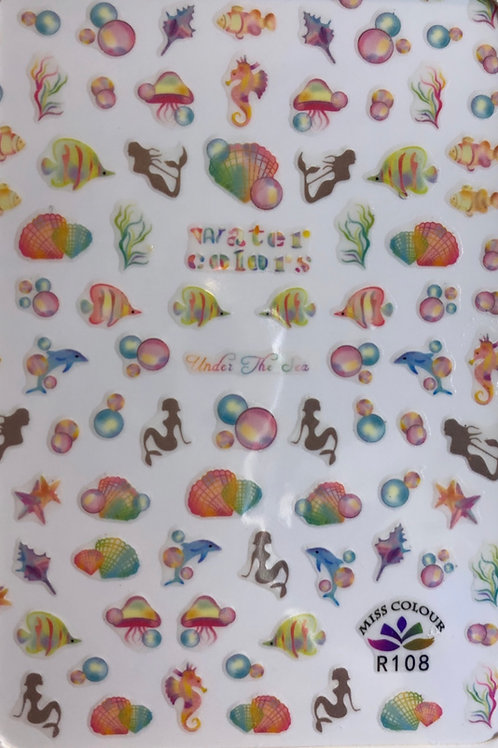 Colorful Sea Life Stickers