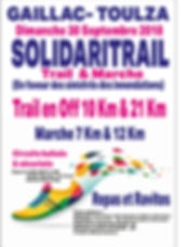 affiche solidaritrail Gaillac Toulza 201